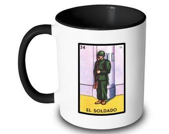 El Soldado Mug Soldier Loteria Card Mexican Bingo
