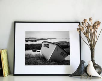 Fishing Boat near Newtown, Newfoundland, Photographic Print, 11x14