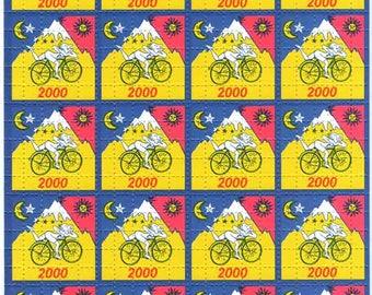 Albert Hofmann Blue Bike Ride 2000 Blotter Art