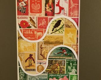 Stamp Collage - stop lights