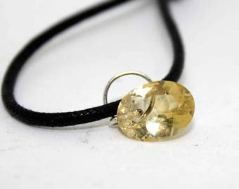 Pendant of natural Citrine gemstone faceted