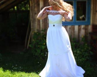 Individual wedding dress boho vintage wedding dress wedding