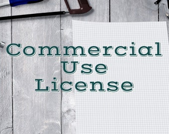Commercial Use License for CharmingSimplicityCA Digital Downloads