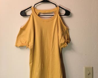 Yellow CUT IT OUT TShirt