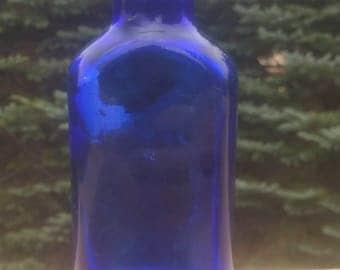 Cobalt blue  medicine bottle antique