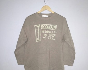 Vintage / joyful / he / danced / for / joy / spell out / crewneck / sweatshirts / medium / size