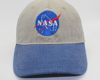 Two Toned NASA Embroidered Cap Dad cap dad hat embroidered baseball cap nasa cap nasa hat unisex cap