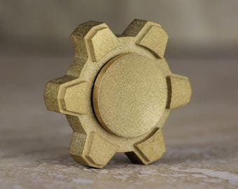 Flicker - A brass gear fidget spinner