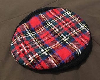 Vintage Christy's London Cotton Blend Red Plaid CABBIE NEWSBOY HAT Size S/M