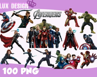 100 The Avengers ClipArt- PNG Images Digital, Clip Art, Instant Download, Graphics transparent background Scrapbook