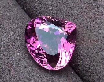 Pink Tourmaline Eye Clean Mozambique Origin Purplish Pink Tourmaline AAA+ Faceted Triangle 11.5 x 11 x 7 MM Size 5.68 Carat Weight