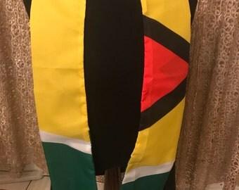 Ghana flag print sash