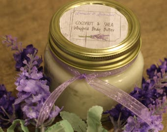 Coconut & Shea Whipped Body Butter Homemade Lotion