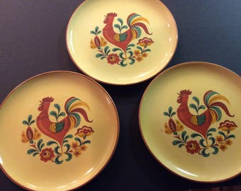 Vintage Rooster plates by Taylor Smith & Taylor