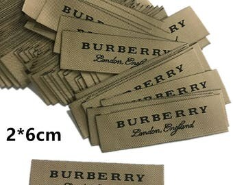 brand labels,labels for clothing,Burberry jacket Overcoat labels,Burberry coat woven labels,Wool Coat Burberry patches labels