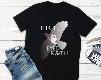 Game of Thrones T-Shirt, Three Eyed Raven T-Shirt, Raven T-Shirt, GOT Inspired Tee, T-Shirt for Men, Tees for Women, Three Eyed Raven