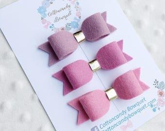 Pink Ombré Mini Bow Set