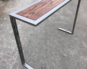 Superb Modern U0026 Industrial Console/Entry Table ///Metal And Wood.