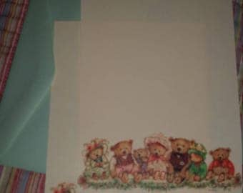 Vintage Stationery Collection ~ Mary Hamilton Mary's Bears Stationery  Mini Collection