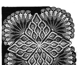 PDF Crochet Pattern, Pineapple Design Table Centrepiece, Design 7339