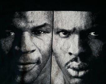 Rare vintage Mike Tyson Vs Donovan Razor Ruddock Retro Boxing T Shirt Tee  boxing promo t shirt