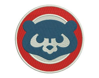 Chicago Cubs Bear Embroidery Design #2 - 5 SIZES