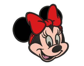 Minnie Head Applique Design #2 - 4 SIZES