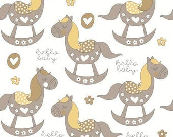 COTTON HORSE COUPON HAS TOGGLE BROWN