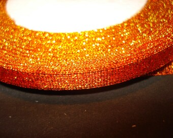 Ribbon color effect orange metallic