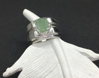 Light Green Beautiful Natural Emerald Beryl Ring