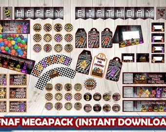 Five Nights at Freddy's pack, Five Nights at Freddy's Birthday,5 nights at Freddy's Party Printables.FNAF PACK. FNAF party pack.Fnaf package