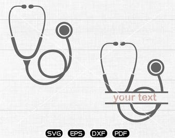 Stethoscope SVG, Stethoscope Clipart, cricut, silhouette cut files commercial use