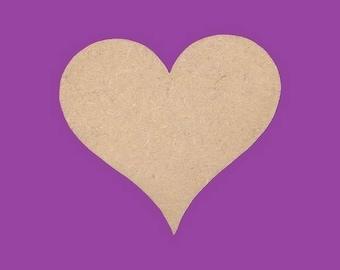 Support medium MDF heart blank