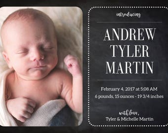 Birth Announcement, Baby Announcement, New Baby Announcement