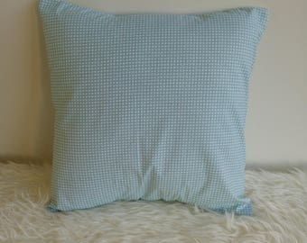Gray/green printed cotton Cushion cover 40 x 40 cm