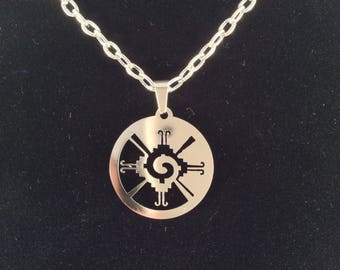 Mayan necklace etsy stainless steel necklace model mayan glyph aloadofball Images