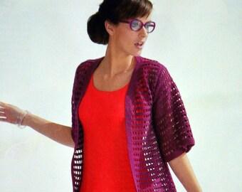 Tutoriel veste pour femme au crochet