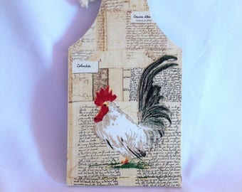 Rooster decorative wooden cutting board