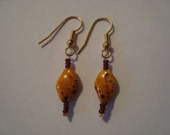 Mustard and Brown earrings
