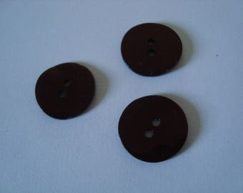 Set of 3 Pearl shaped buttons round 1.8 cm
