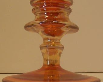 Marigold Depression Glass Candlestick Holder