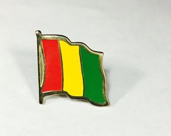 Guinea Flag Pins