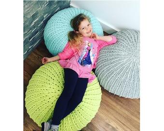 Floor Pouf Crochet Pattern - Crochet Pattern for Floor Pouf Pillow - MJ's Textured Floor Pouf Crochet PATTERN by MJ's Off The Hook Design