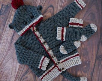 Sock Monkey Hoodie & Socks