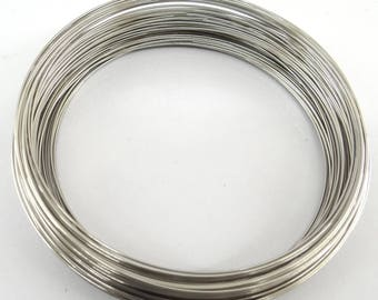 10 turns of memory wire for making tfcm010 steel colored metal necklace