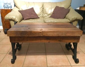 SOLD - Thick Slab Barn Wood Coffee Table
