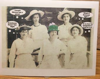 Free Shipping, Humorous Green Hat Environment Card