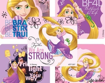 "25 Tangled The Series Stickers, 2.5"" x 2.5"" Each"