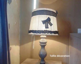 Lampe ancienne, revisitée, style vintage