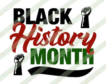 Black History Month SVG, Raised Fist, African Colors, Cricut Cutting File, Afrocentric Art, African American, Digital Download